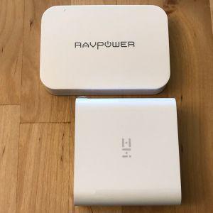 Top: RAVPower PD Pioneer 45W GaN. Bottom: ZMI PowerPlug Turbo.
