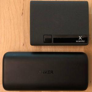 Top: Xcentz xWingMan Dual 10000. Bottom: Anker PowerCore 10000 PD.