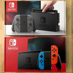 Compare Nintendo Switch Model Boxes, Front