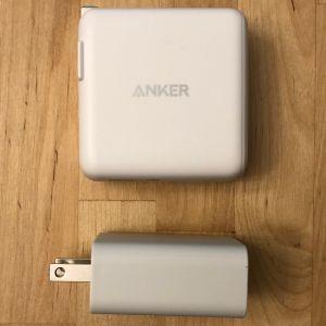 Top: Anker PowerPort III Duo. Bottom: Google 18W USB-C.