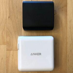 Top: AUKEY PA-D1 Focus Duo 30W. Bottom: Anker PowerPort II PD.