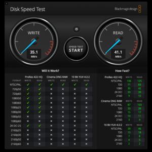 Disk Speed Test USB 2.0 - ZMI PowerPack 20K Pro in USB Hub mode