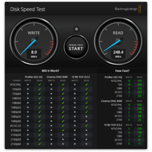 Disk Speed Test USB 3.0 - Apple USB-C to USB Adapter