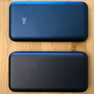 Top: ZMI PowerPack 20K Pro (ZMI QB823). Bottom: ZMI PowerPack 20000 (ZMI QB820).