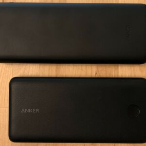 Top: AUKEY PB-Y23 Sprint Go Lightning 20000. Bottom: Anker PowerCore Essential 20000 PD.