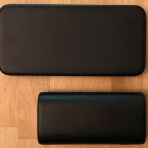 Top: RAVPower PD Pioneer 10000 18W. Bottom: AUKEY PB-Y36 Sprint Go Mini 10000 PD.