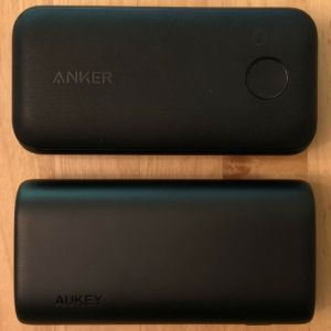 Top: Anker PowerCore 10000 PD Redux. Bottom: AUKEY PB-Y36 Sprint Go Mini 10000 PD.