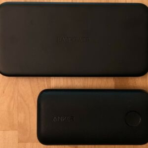 Top: RAVPower PD Pioneer 10000 18W. Bottom: Anker PowerCore 10000 PD Redux.
