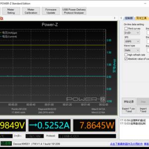 Switch Lite sleeping power meter (USB-C)