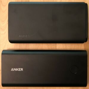 Top: AUKEY PB-Y24 26800 Universal. Bottom: Anker PowerCore+ 26800 PD.