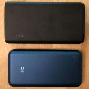 Top: AUKEY PB-Y24 26800 Universal. Bottom: ZMI PowerPack 20K Pro.