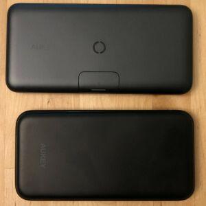 Top: AUKEY PB-WL02 Basix Pro Wireless 10000. Bottom: AUKEY PB-Y25 Sprint Wireless 8000.