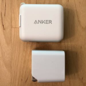 Top: Anker PowerPort C 1. Bottom: AUKEY PA-Y18 18W PD.