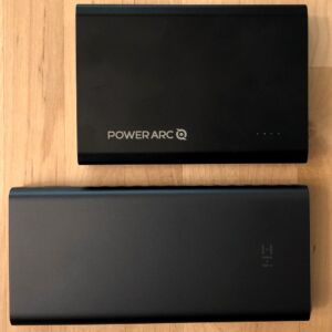 Top: PowerArc ArcPack 15000. Bottom: ZMI PowerPack Aura 20K USB-C.