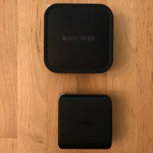 Top: RAVPower PD Pioneer 90W 2-Port. Bottom: AUKEY PA-B4 Omnia Duo 65W Dual-Port PD.
