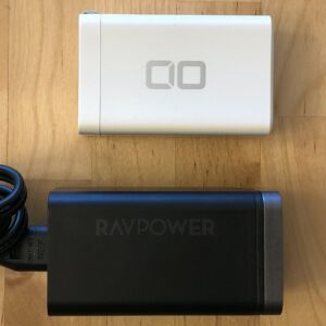Top: CIO 65W USB-C GaN. Bottom: RAVPower PD Pioneer 65W 4-Port Desktop.