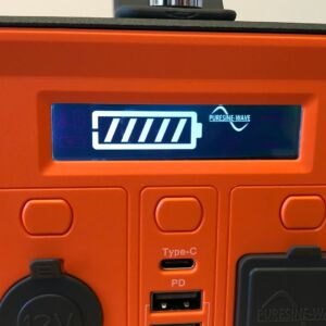 Novoo 230Wh Portable Power Station LCD with AC/outlet active