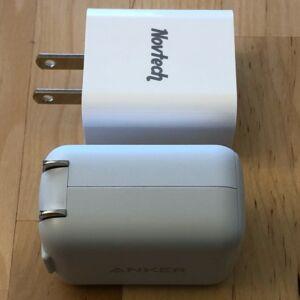 Top: Novtech 18W PD Charger. Bottom: Anker PowerPort PD 1.