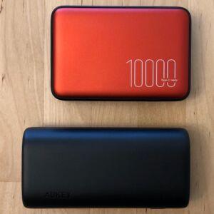 Top: Silicon Power QP70. Bottom: AUKEY PB-Y36 Sprint Go Mini 10000 PD.