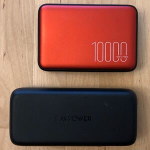 Top: Silicon Power QP70. Bottom: RAVPower PD Pioneer 10000 18W.
