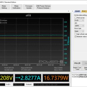 Moto G6 power meter (USB-A)